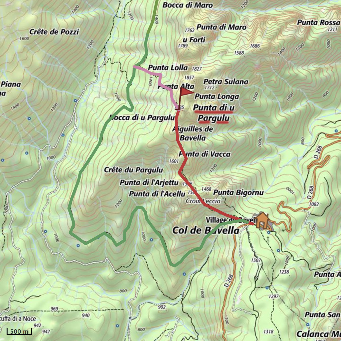 variante alpine GR20 Corse randonnée