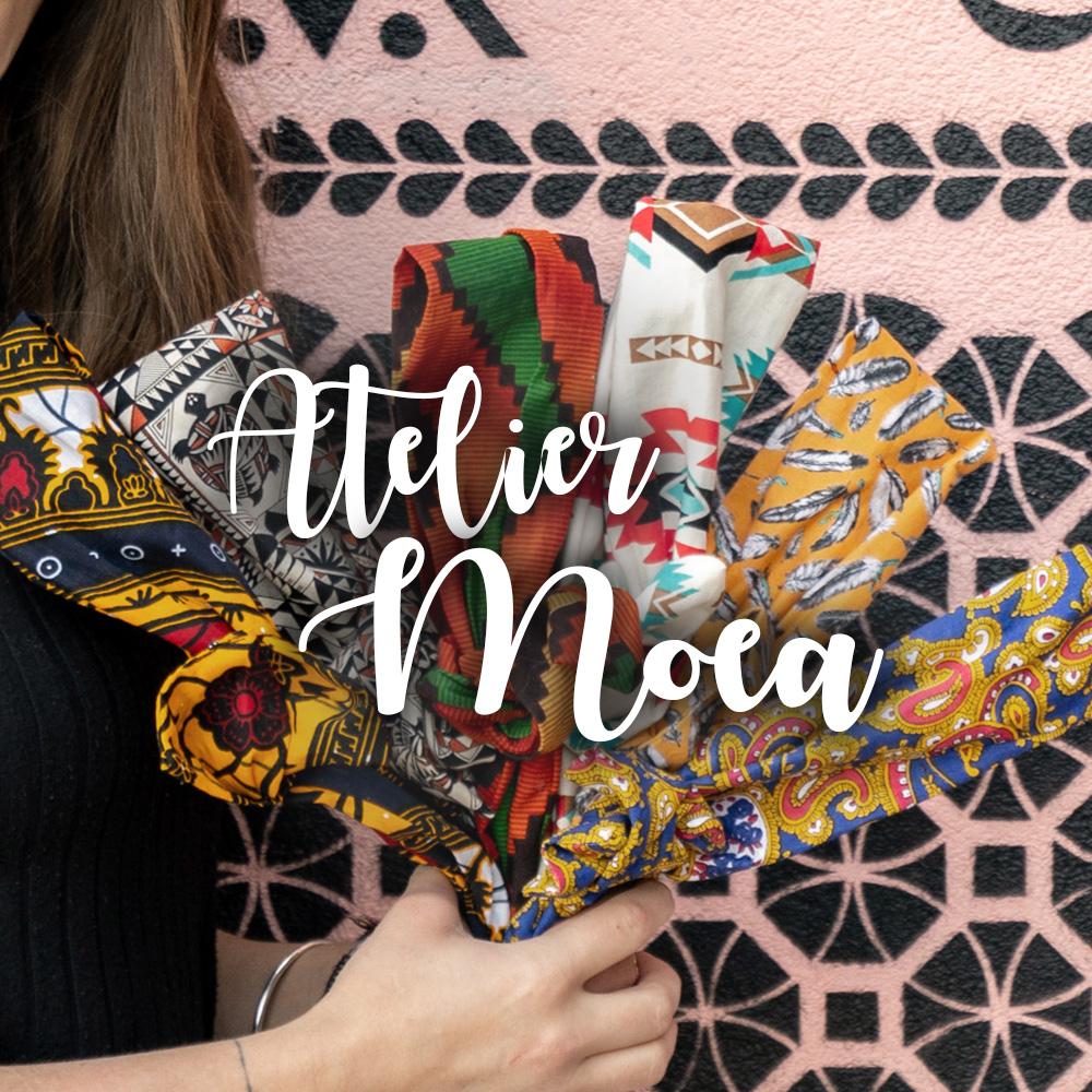 Atelier Moea headbands ethnique fabriqués en France à la main éthiques solidaires tissus chinés autour du monde