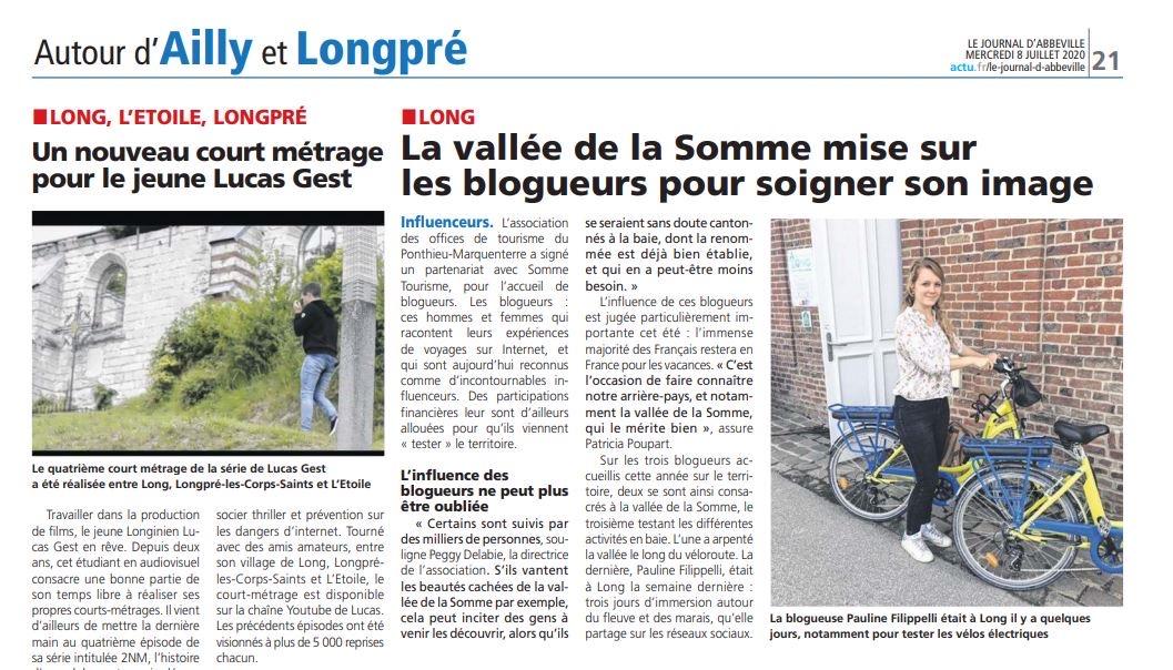 Journal Ailly et Longpré World Me Now dans la Vallée de Somme