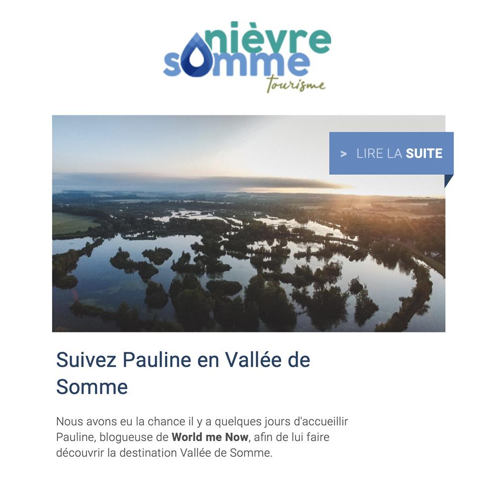 Article Nièvre Somme Tourisme World Me Now dans la Vallée de Somme