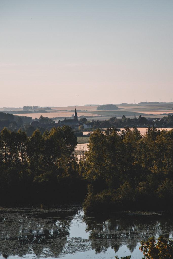 Vallée de Somme belvédère étangs marais panorama somme Sainte Colette