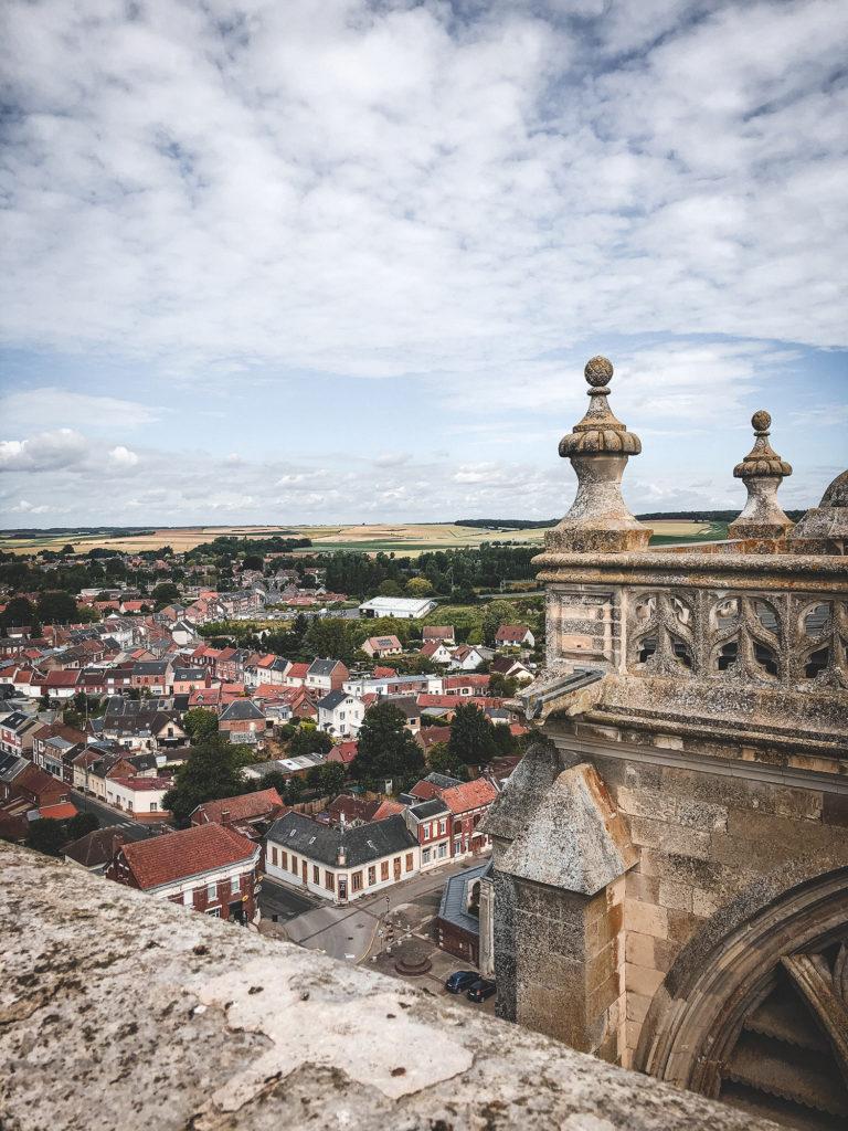 Vallée de Somme église abbatiale de Corbie tour sud vue panoramique bataille de la somme